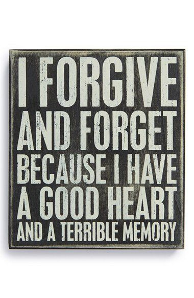 Primitives by Kathy 'Forgive and Forget' Box Sign | Nordstrom