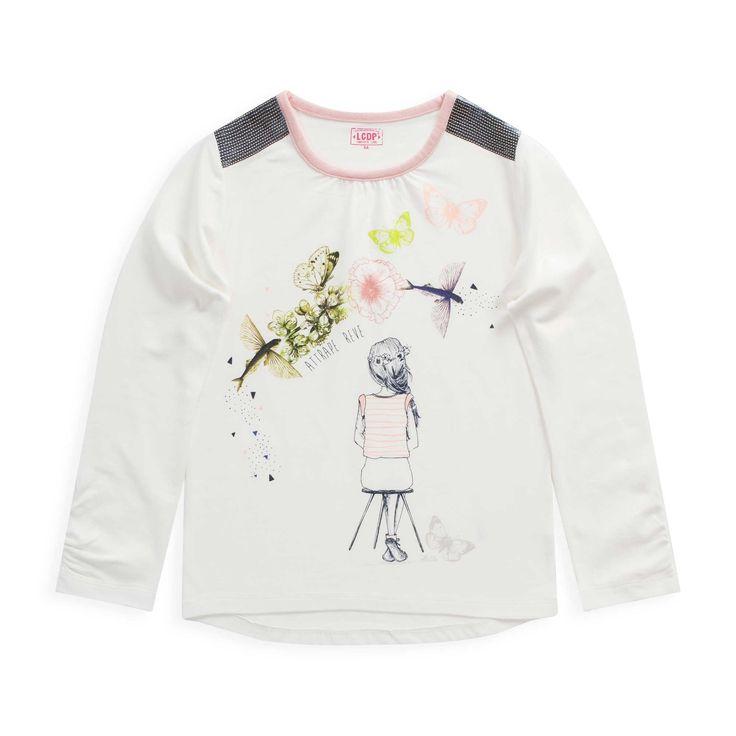 """T shirt en jersey """"Preppy girl"""""""