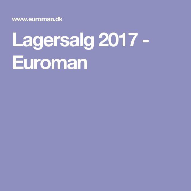 Lagersalg 2017 - Euroman