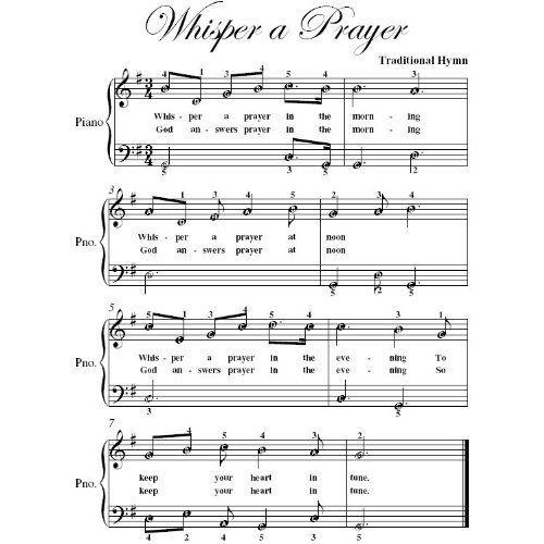 Whisper A Prayer Easy Piano Sheet Music Christian Books