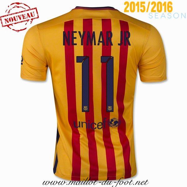 la boutique officiel nouveau maillots barcelone NEYMAR JR 11 Exterieur 2015 2016 saison