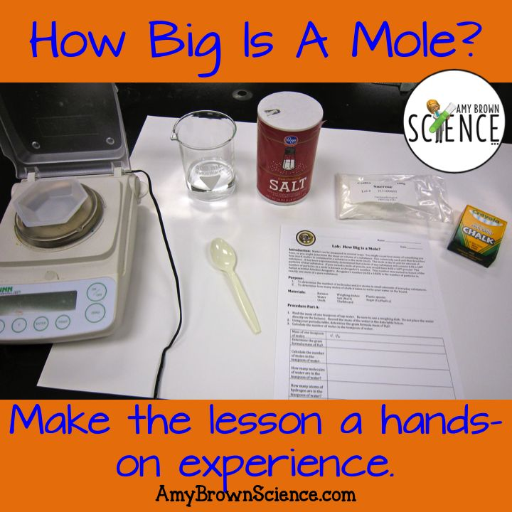 What are your plans for Mole Day?  How about doing a lab that teaches the mole concept?