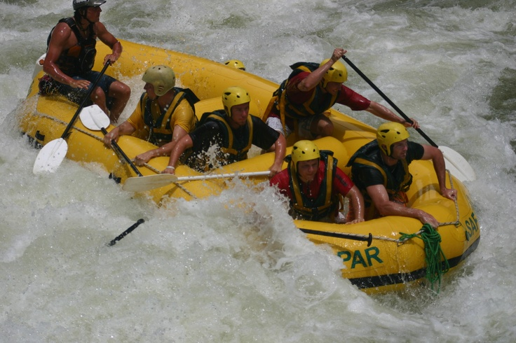 White Water Rafting on The Zambezi River in Zimbabwe, Victoria FAlls