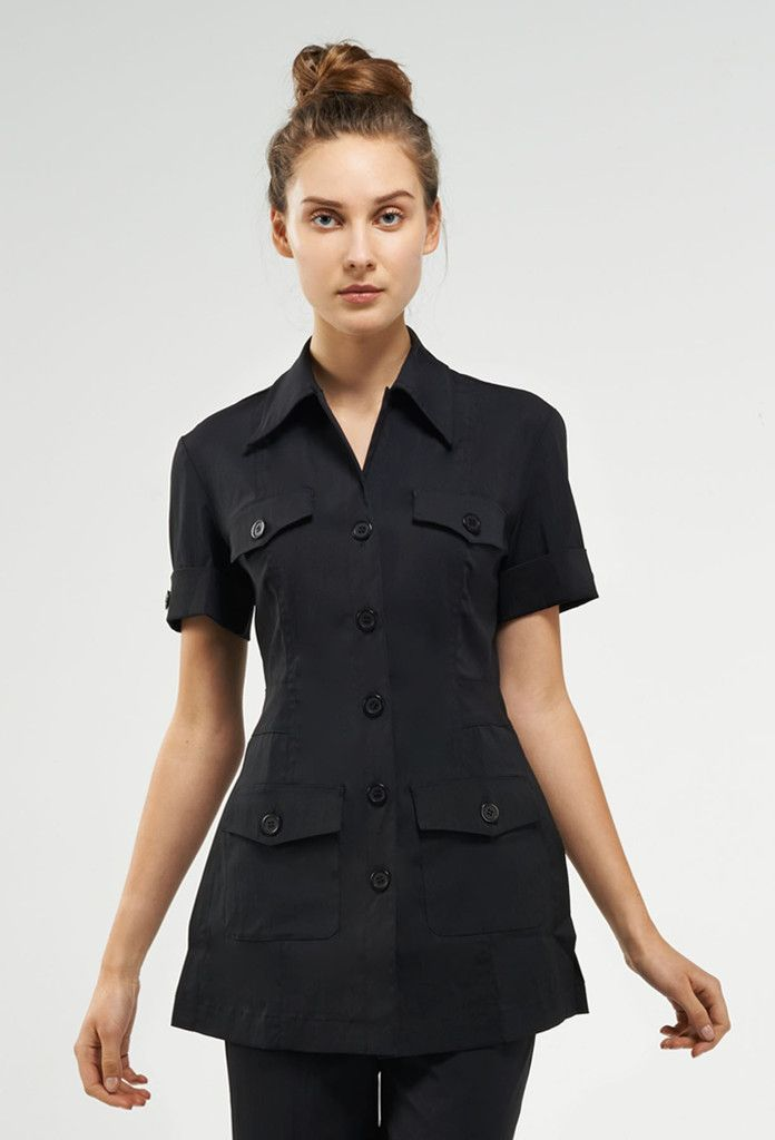 42 best uniforms images on pinterest spa uniform tunics for Spa uniform in the philippines