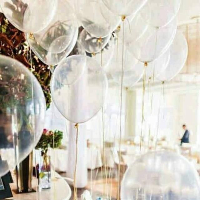"25 X 12/"" Latex Plain Clear Transparent Helium Balloons Party Birthday Wedding"