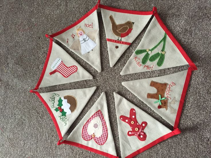 Christmas bunting , inspired by Jane Lightfoot.