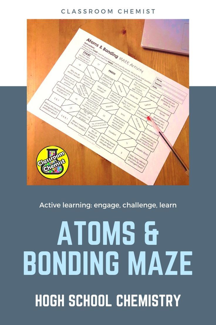 Engage And Assess Your High School Students With This Atom And Bonding Maze Activity How To Use Studen Learning Worksheets High School Science Student Reading
