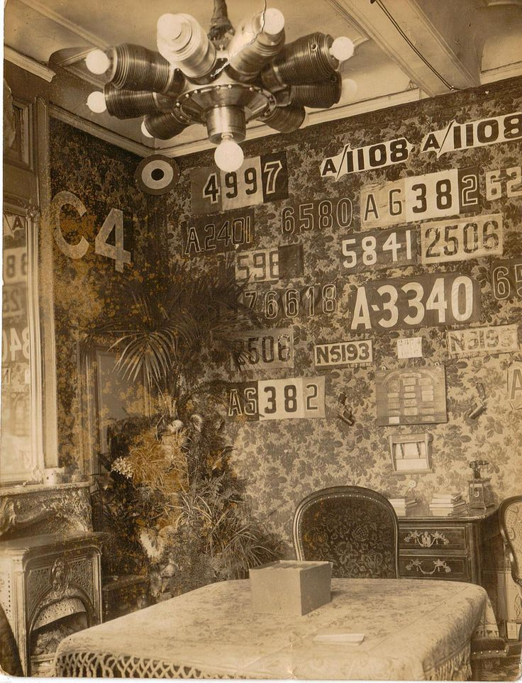 Manfred von Richthofen's bedroom in East Prussia, decorated with trophies of his WWI air victories