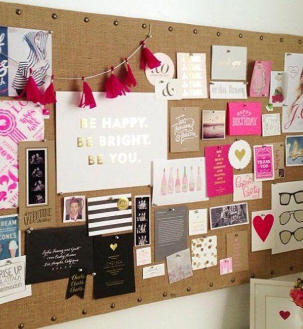 Idée décoration pour mon bureau : le pêle-mêle coloré