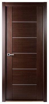 Maximum 201 Interior Door Wenge - contemporary - interior doors - new york - Doors And Beyond
