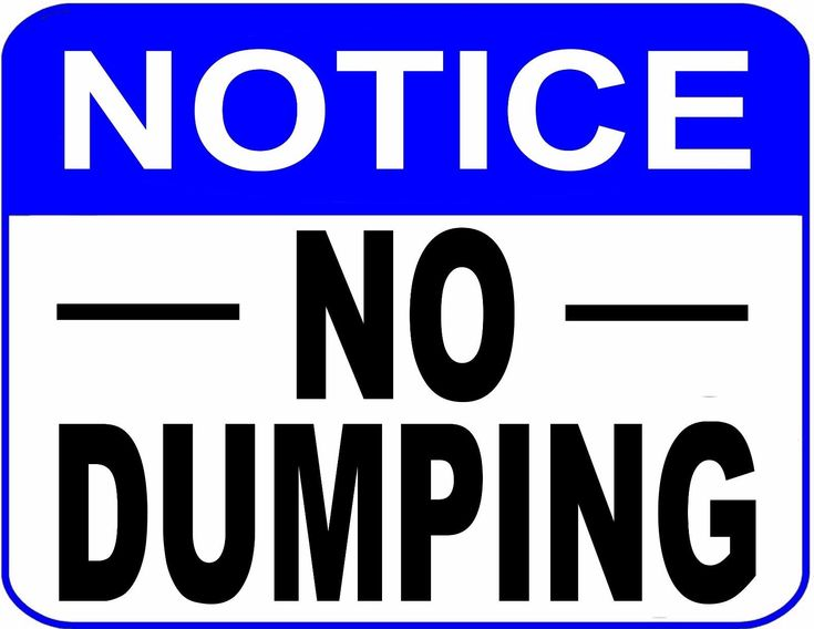 """""""Notice No Dumping"""" 9 X 11.5 Laminated Security Sign"""