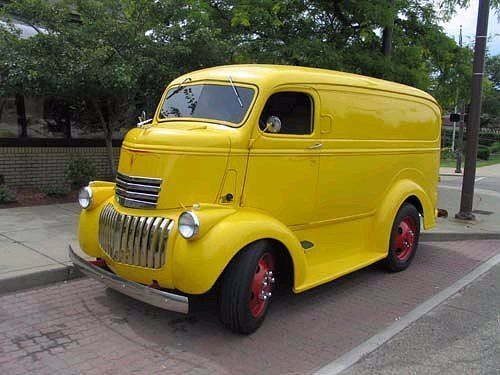 Early 1940's Chev COE panel delivery van cabover Chevrolet 40's cool retro deco truck heavy duty