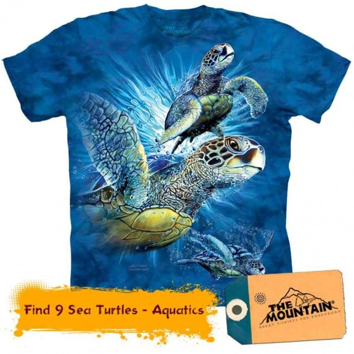 Tricouri The Mountain – Tricou Find 9 Sea Turtles - Aquatics