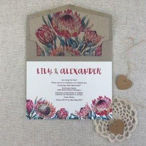 Protea Flower Invitation