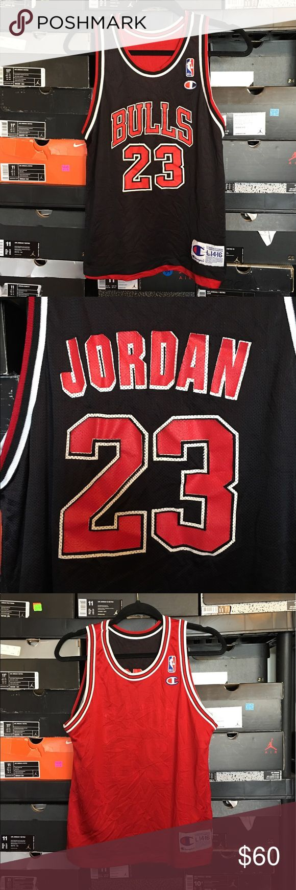 Champion NBA Chicago Bulls Michael Jordan Jersey Vintage Champion Reversible NBA Chicago Bulls Michael Jordan Jersey. Kids size Large 14/16. Red side of jersey does not have any screen print. Perfect for customizing. Champion Shirts & Tops Tank Tops