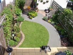 Nice playful yet functional little backyard