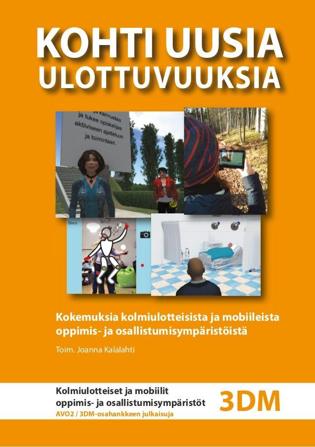 Miten kouluttaa ryhmänohjaustaitoja Second Life -virtuaalimaailmassa? Entä miten suomen kielen oppimisympäristön rakentaminen RealXtend-virtuaaliympäristöön sujui? Kiinnostivatko lisätyn todellisuuden koulutukset ja vetivätkö lisätyn todellisuuden ARea-seminaarit väkeä? Entä miten mobiilisovellukset ja Kinect-liikeohjain taipuivat tukemaan hyvinvointialan opiskelijoiden oppimista ja erityisryhmien osallistumista?