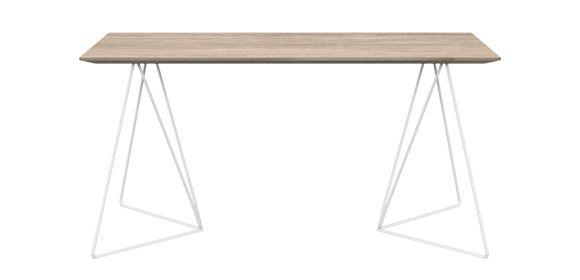 FLY table. Table top top size: 160x80 cm. - www.miloni.pl/en MILONI: wooden table, oak table, natural wood table, table design, furniture design, modern table