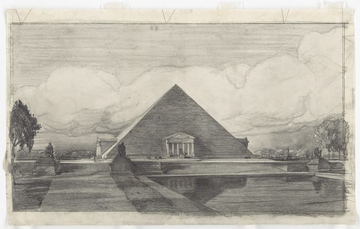 The Proposition For The Lincoln Memorial In Washington  The following three pictures were proposed by John Russell Pope, who was inspired by the architecture of distant lands, like the pyramids of Egypt and ziggurats of ancient Mesopotamia.