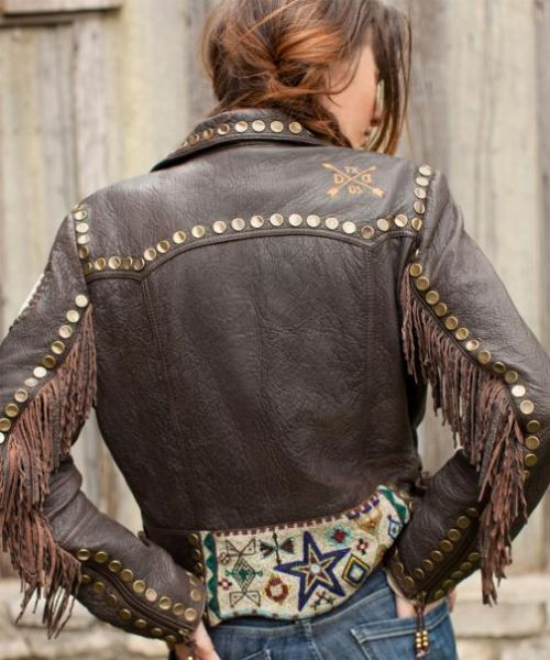 Shop By Brand - Double D Ranch - DOUBLE D RANCH CAYUSE BEADED BIKER JACKET! - DoubleDRanch|High End Ladies Western Wear|Vintage Collection|Black as Crow Onyx|Cowgirl Fashion|Jewelry Nested in Sterling Silver|Turquoise - (Powered by CubeCart)