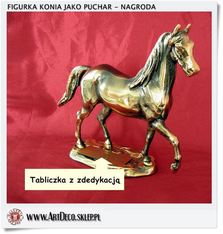Polish horse figurine brass handicraft