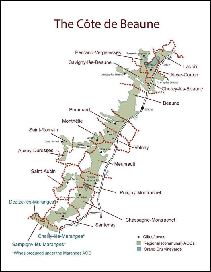 France - Cote de Beaune SWE Map 2016