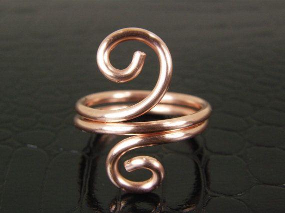 Fresco di anello di filo di rame, anello, anello di rame, anello filo