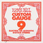 Ernie Ball 1009 Plain Steel Single Guitar String .009 The UK & Europe's No.1 supplier of guitar strings, bass strings and instrument accessories at discount prices in quantities of your choice.