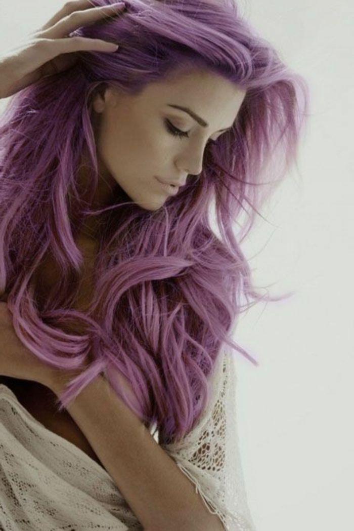 couleur violine cheveux cheveux en lilas ple - Violine Coloration