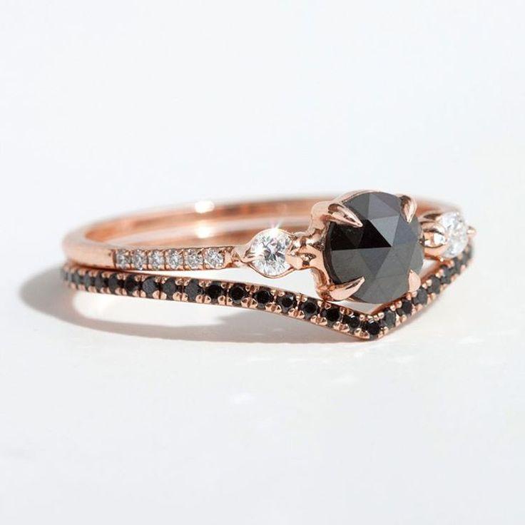 Angara Classic Solitaire Enhanced Black Diamond Ring(5.8mm) MeIwAQf