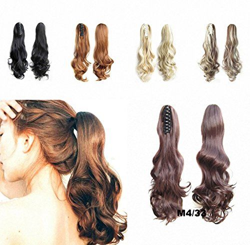 FESHFEN 22 170g Hair Piece Pony Tail Ponytail Hair Extensions Hairpiece Long StraightVoluminous Curled Wavy Clip InOn Claw Ponytail M433 Medium Brown and Dark Auburn Mixed ** Find out more about the great product at the image link.(This is an Amazon affiliate link and I receive a commission for the sales)