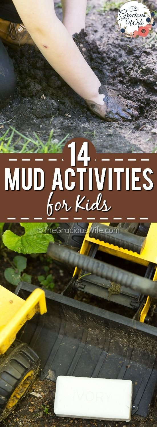 14 Dirt and Mud Activities -There are so many health benefits to kids going outside and playing in the mud, and there's no need to worry when you can clean up gently after with Ivory Soap. Encourage your kids to have fun and get muddy with these 14 mud activities for kids, then wash up with the best soap! #AD #EverydayIvory