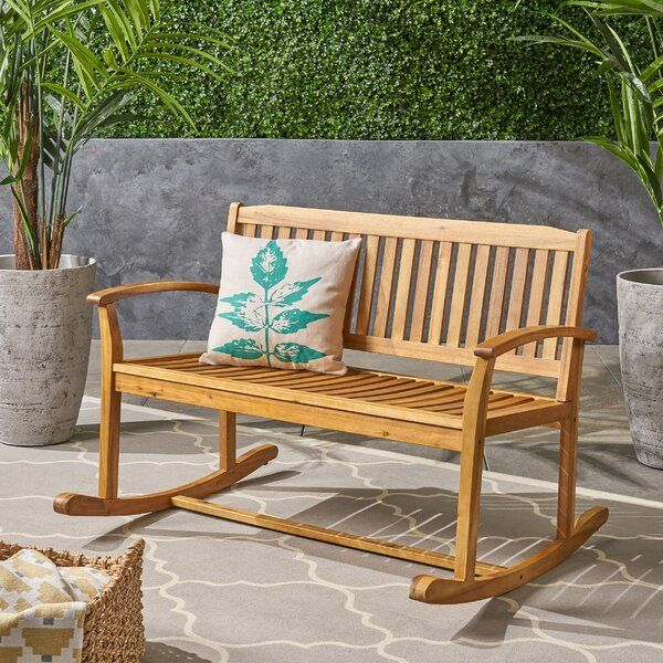 Campton Glider Bench In 2020 Rocking Chair Rocking Bench Rocking Chair Set