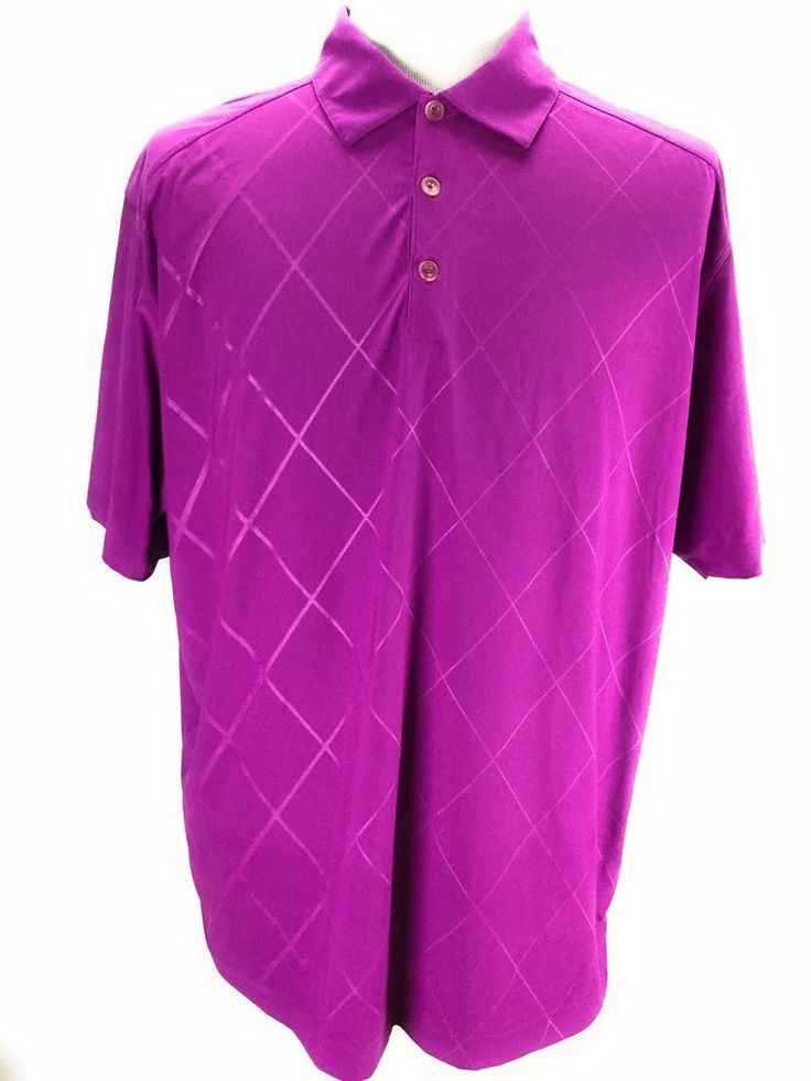 Nike Mens Golf Polo Shirt Adult Large Purple Dri Fit Rugby Golf Tennis #Nike #PoloRugby #UptownBug