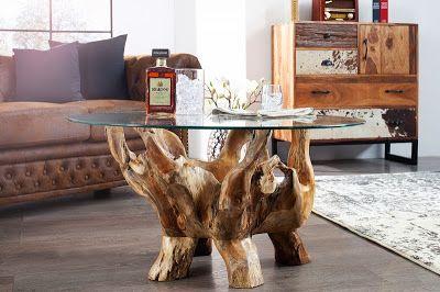 Luxusný nábytok REACTION: Konferenčný stolík z masívu RUND