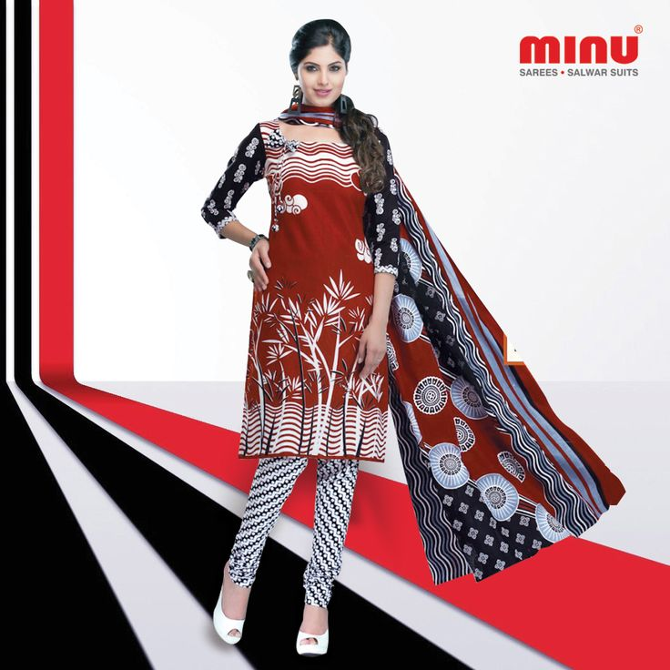 This Designer #Salwarsuit is perfect for any occasions. A Style statement with this, look your best. Let the festive time begins! Shop From @  http://www.minufashion.com/view/Apsara9_9007-3478 WhatsApp: +91 9674803887 | Call: +91 33-40669241 #Minu #cotton #sarees #salwarsuits #indianwear #ethnicwear #onlineshopping #womenwear #traditional