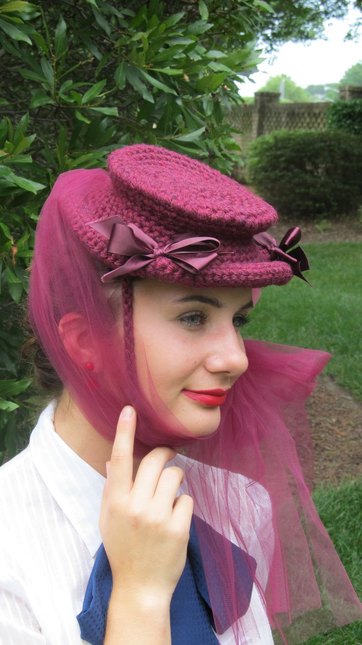 crocheted hat from an original 1944 pattern