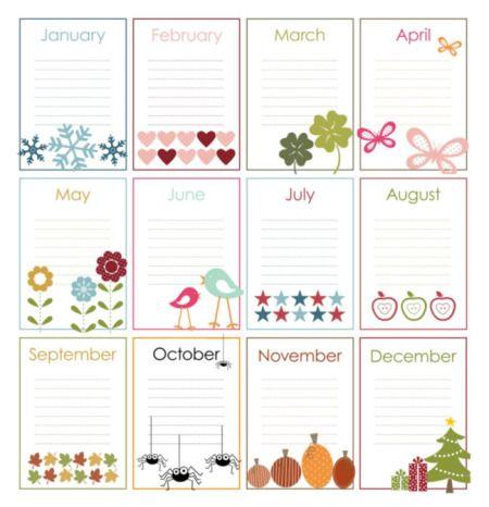 Best 25 family birthday calendar ideas on pinterest for Family birthday calendar template