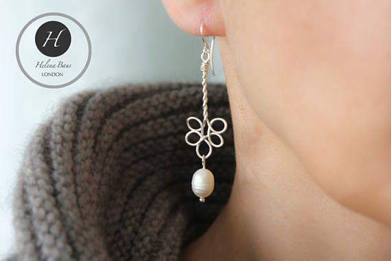 Real Pearl wedding earrings Bridal freshwater pearl earrings