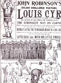 Louis Cyr Strongest Man on Earth Poster