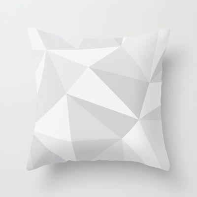 White Deconstruction Throw Pillow by INDUR -  Hvid og grå geometrisk pude