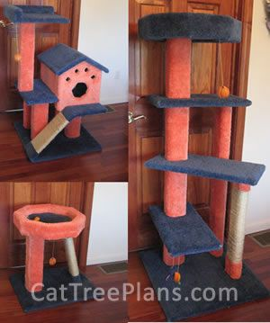 Cat Tree Plans To Make Your Own Simple Easy Diy Instructions On How Build And Furniture Scratching Post Tower