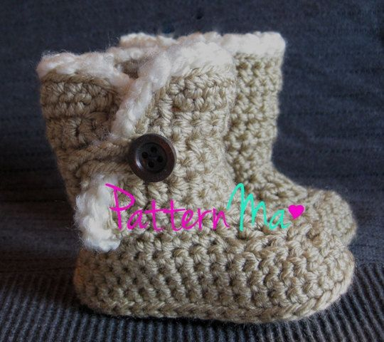 Free Crochet Pattern Ugg Boots : Crochet Baby Boots Pattern #3 Crochet baby, The ...