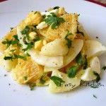 Insalata cremosa di uova patate arancia e finocchi ricetta sfiziosa