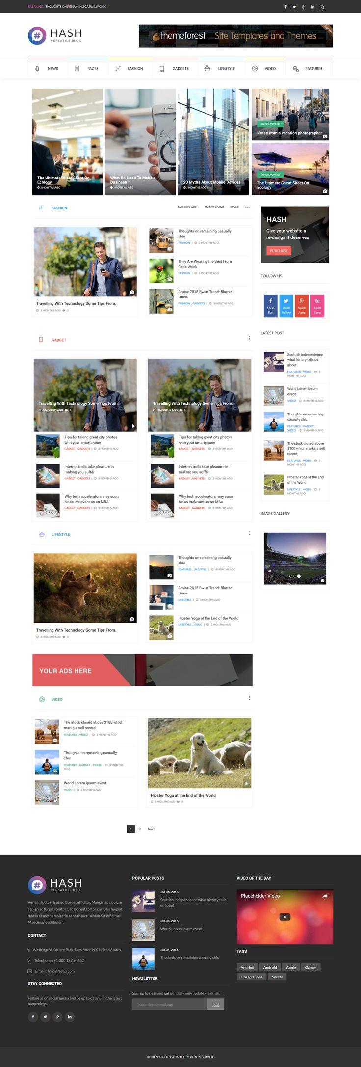 Hash - Responsive WordPress Magazine Theme