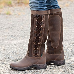 Dublin Pinnacle Boot - These stylish boots are great in or out of the saddle with a wear patch on the calf and a substantial heel that won't slip through your stirrup.