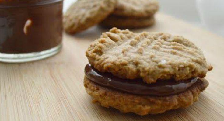 Peanut Butter Chocolate Cream Sandwich Cookies Recipe