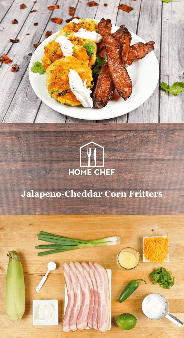 Whether you're Southern or just a wannabe Southerner, corn fritters are a much-beloved sign of summer. Made when corn is at the peak of sweetness, these crispy gems are pan-fried until golden on the outside and silky on the inside. We load this version with Cheddar cheese and jalapeño and top 'em off with lime-spiked sour cream and smoky bacon. It's a southern breakfast that satisfies.