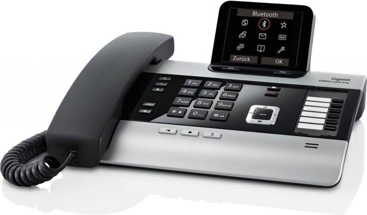 Gigaset DX800A all in one è un telefono ibrido e versatile, configurabile VoIP su linea ISDN oppure VoIP sul linea fissa. E' un telefono multilinea
