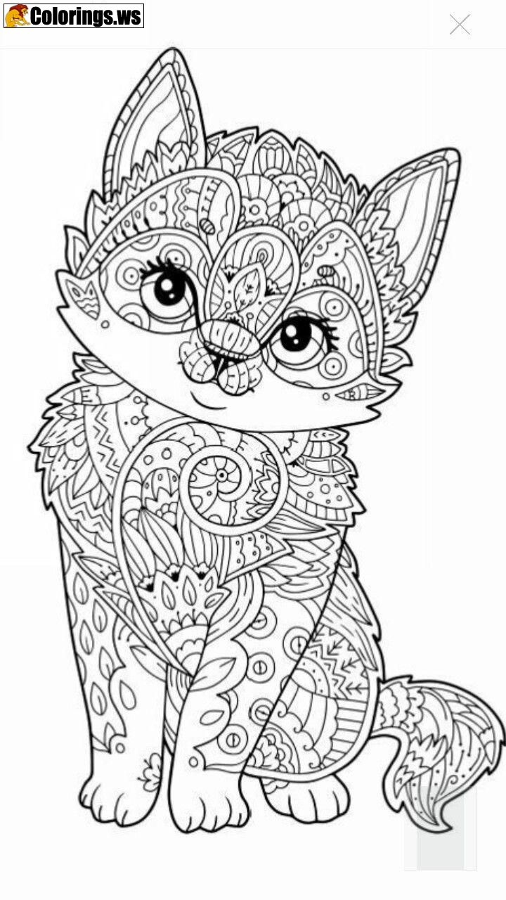 Cat Animal Mandala Coloring Pages Mandala Coloring Pages In